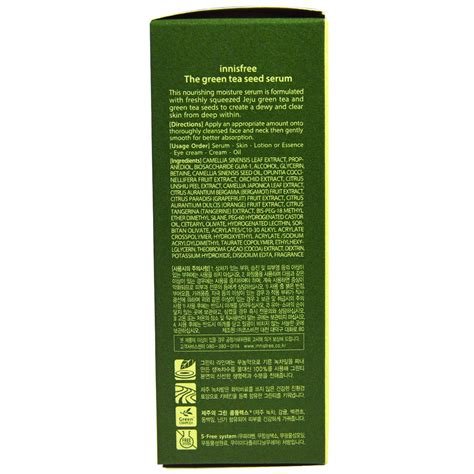 Harga Innisfree The Green Tea Seed Serum innisfree the green tea seed serum 1ml page 4 daftar