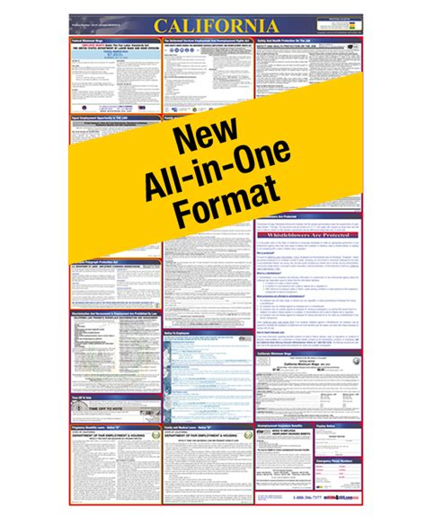 printable federal labor laws poster state and federal labor law posters osha compliance