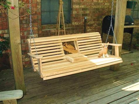 deck swing ideas  porch swing plans cup holder