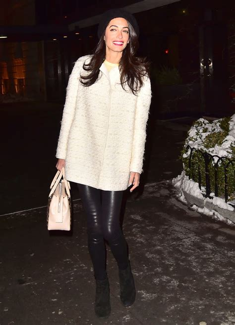 Watch House Online by Amal Clooney Looks Chic In Leather Leggings Picture All