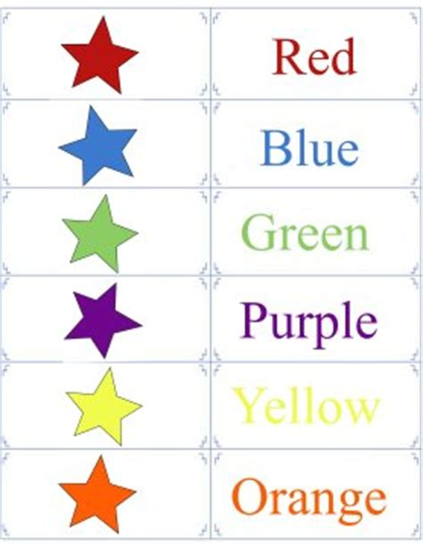 free printable color flashcards for toddlers printable color flashcards