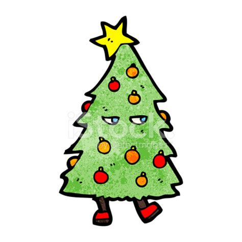 christmas tree cartoon character stock vector freeimages com