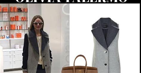Debra Messings Birkin Handbag by Palermo In Grey Sleeveless Coat With Brown Birkin