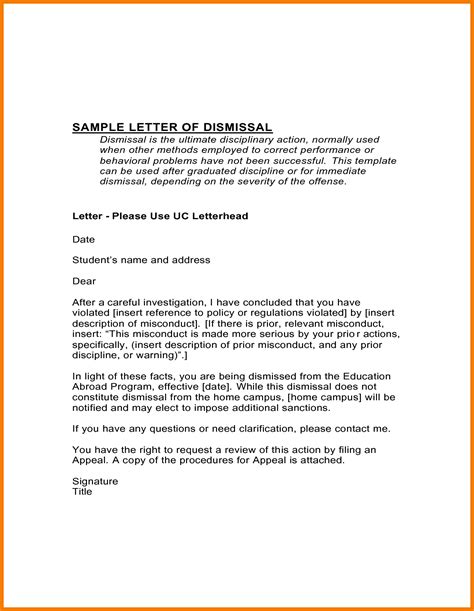 Appeal Letter For Work Suspension Academic Probation Letter Template Letter Template 2017