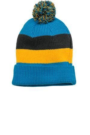 Vans School High Code Dt district dt627 vintage striped beanie with removable pom