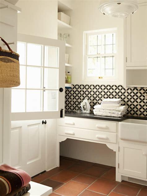 contemporary backsplash tiles transitional laundry