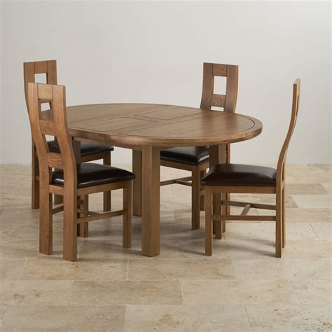 Oak Dining Table 4 Chairs Knightsbridge Extending Dining Table 4 Leather Chairs