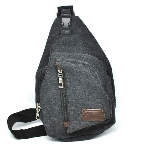 Tas Selempang Casual Canvas Unbalance Backpack Hitam 1 tas selempang kasual bahan canvas khaki jakartanotebook