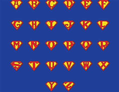 superman alphabet template 17 best images about printable letters on