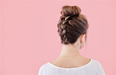 poly band hair poly band hair how to create the perfect braided top knot