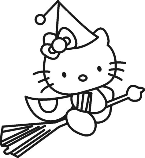 10 hello kitty halloween coloring pages for kids to have