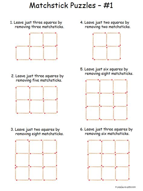 easy matchstick puzzles logic puzzles