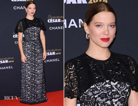 lea seydoux red carpet fashion awards lea seydoux in louis vuitton c 233 sar revelations 2018