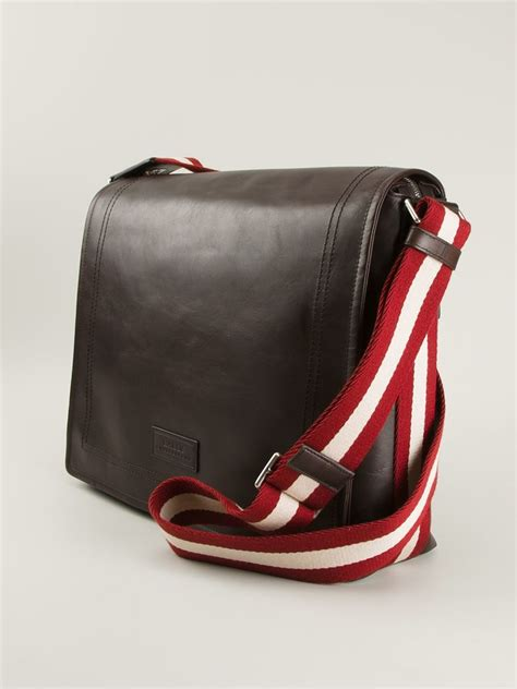 bag for lyst bally medium triar messenger bag in brown for