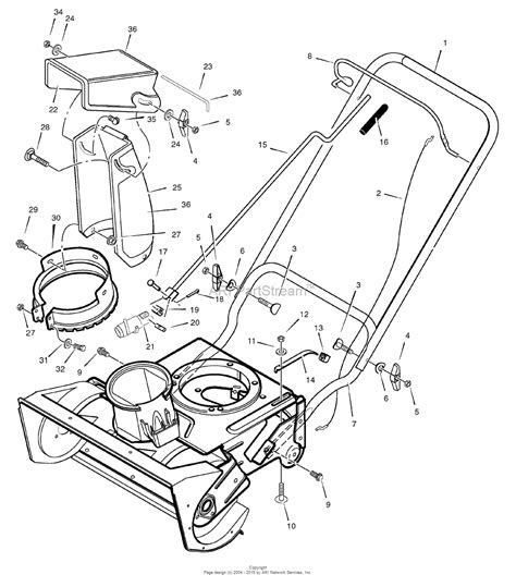 murray snowblower parts diagram murray 1695537 murray 650 21 single stage snow thrower