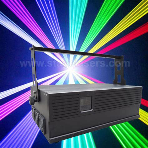 professional laser light equipment 7w rgb animation professional high power laser