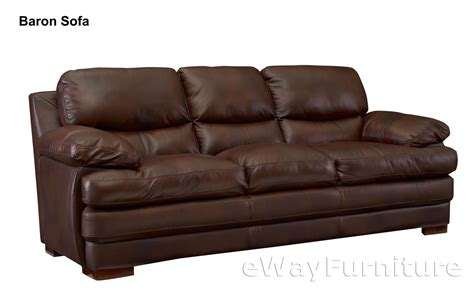 Best Leather Furniture by Baron Top Grain Leather Sofa