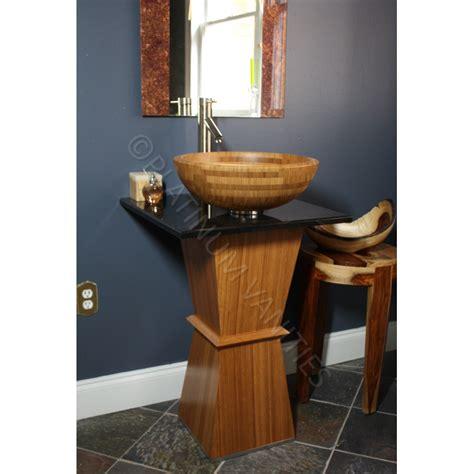Narrow Modern Bathroom Sinks Wood Bamboo Narrow Modern Bathroom Vanity Pedestal