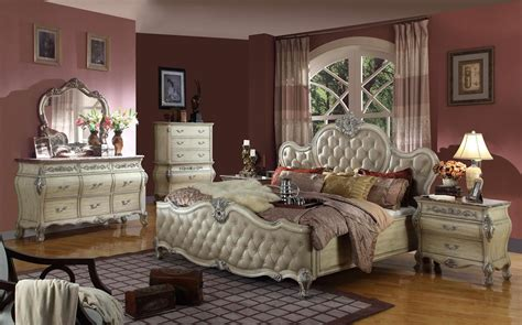 Mcferran Bedroom Set by 4 Pc Mcferran Bordeaux B8301 Antique Beige Bedroom Set