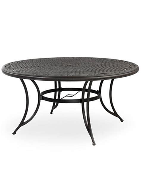 cast aluminum 60 quot outdoor dining table furniture