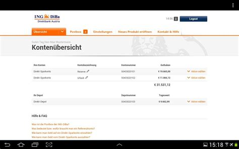 www ing diba bank ing diba austria banking app android apps auf play