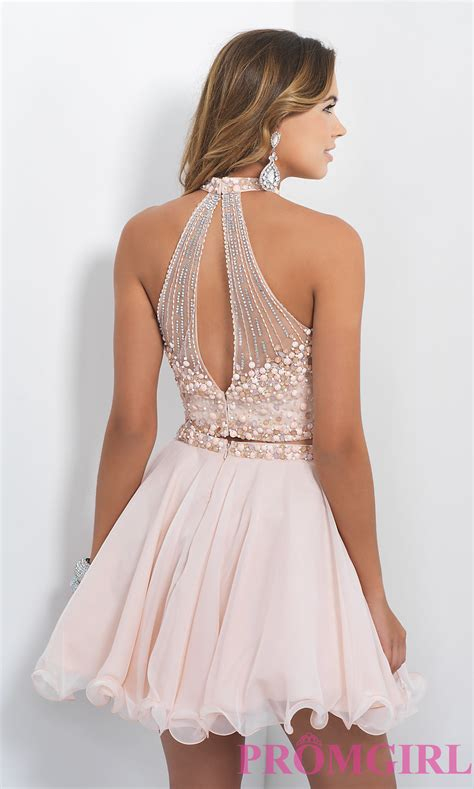 two blush homecoming dress promgirl