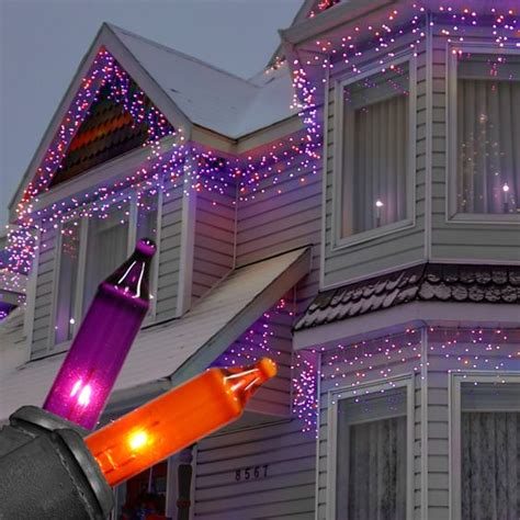 strobeing icicle lights at universal studios christmas decorations orange icicle lights festival collections