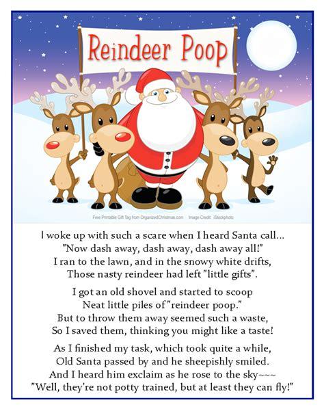 printable reindeer poop tags reindeer poop a silly stocking stuffer to make