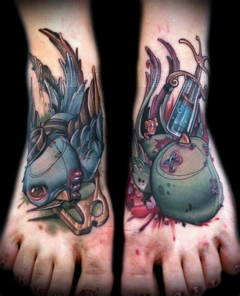 turnpike tattoo bird and hospital by doty