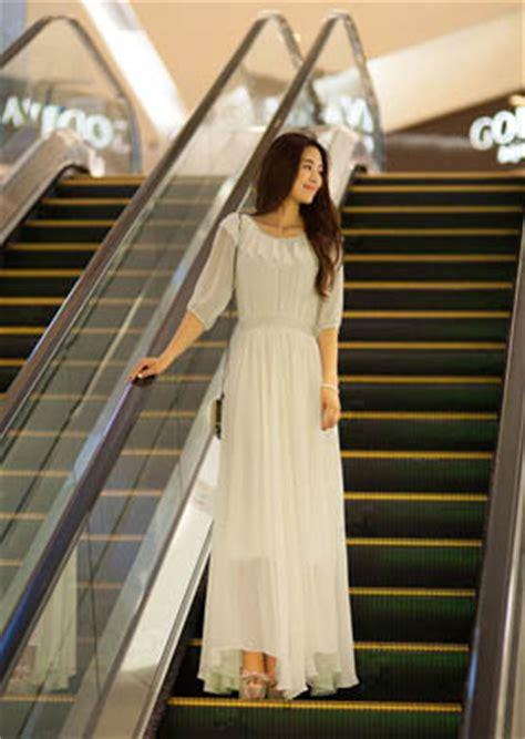dress korea sifon putih model terbaru jual murah