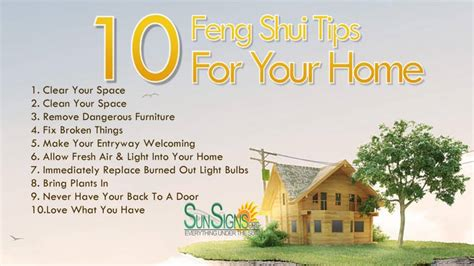 10 feng shui tips for your home sun signs