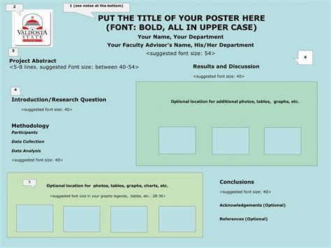 poster layout guidelines poster presentation guidelines and information valdosta