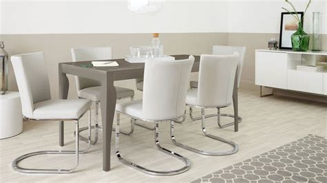 home 6 seater dining set 6 seater dining set cantilever chairs taupe grey gloss