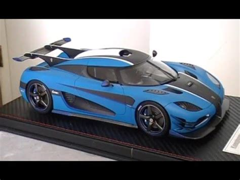 koenigsegg one 1 blue koenigsegg one 1 matt blue 1 18 unboxing