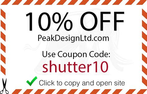 design by humans discount code 2014 peak design coupon code 10 discount from shutter muse