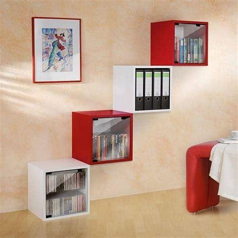mensole laccate scaffali quattro cube mdf laccato o legno made in germany