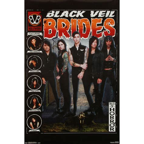 house band merch black veil brides domestic poster from rockabilia band
