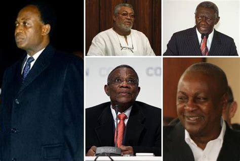 World Review Ghana Prepares For Elections After Presidents Death | file presidents of ghana and of the 4th republic of ghana jpg