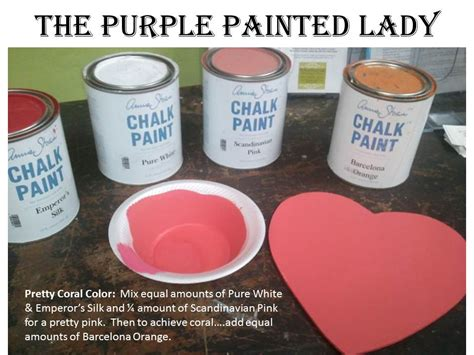 coral color recipe the purple painted