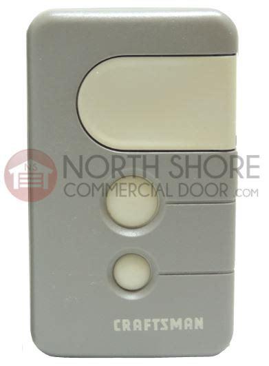 sears craftsman garage door opener remote control