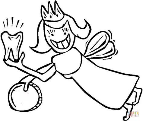 coloring page tooth fairy disegno di la fatina col dentino da colorare disegni da