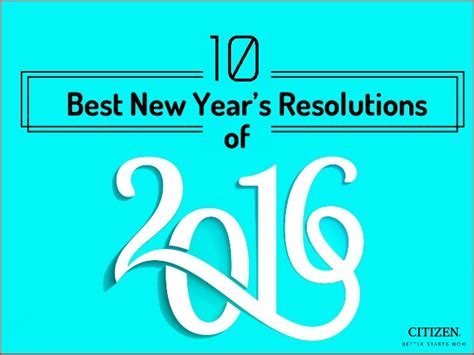 10 best new year s resolutions of 2016