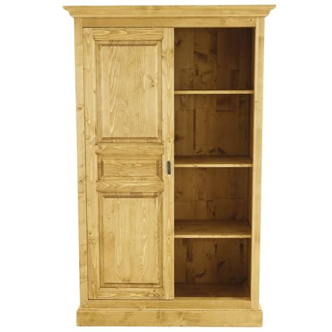 Armoire 2 Portes Coulissantes 5596 by Armoire Style Montagne En Pin Massif 2 Portes Coulissantes