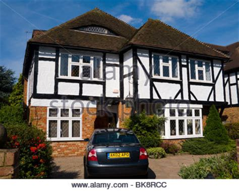 Black Garage Warrington by Typical 1930s Brick Built Semi Detached House With