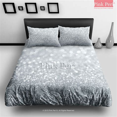 Sparkle Comforter Set by Silver Grey Sparkle Glitter Bedding Sets From Pink Peri