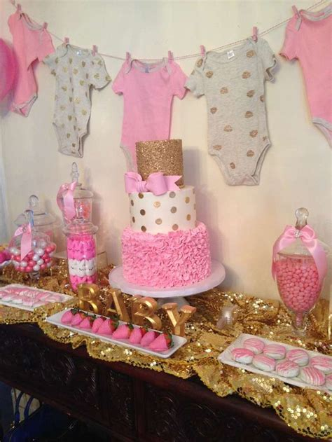 Pink And White Baby Shower Decorations by Pink And Gold Baby Shower Ideas Baby Shower