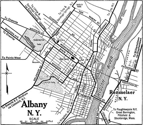 map albany ny albany and rensselaer