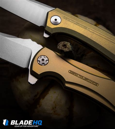 zero tolerance titanium zero tolerance 0808gld flipper knife titanium 3 25 quot satin