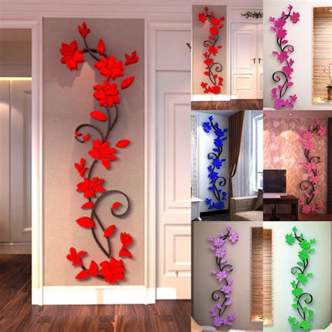 3d Wall Sticker 232592047 1 3d wall sticker fashion flower entranceway tv background wall modern decoration