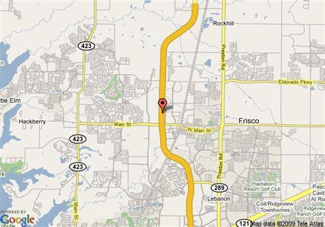 frisco texas map map of comfort suites at frisco square pizza hut park frisco